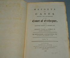 Alexander  Anstruther - Reports of Cases Argued and Determined in the Court of Exchequer - 1796