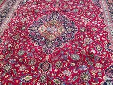 Incredible & Fantastic Persian Iran Kaschan handknotted 303x403cm end of 20th century