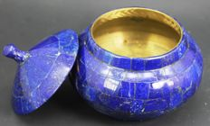 Hand crafted and copper-lined Royal Blue Lapis Lazuli - 115 x 112 x 77mm - 607gm