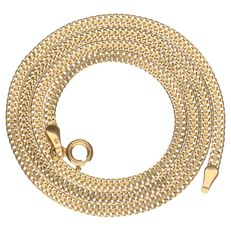 Yellow gold double curb link necklace