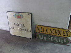 "Signs ""Hotel villa Schuler"" from Taormina-1905"