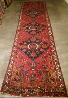 Vintage, Persian, hand-knotted runner, Iran - 20th century.