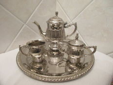 Small silver plated tea/coffee set Italy, first half of the 20th century