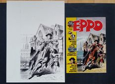 Bishop, Harry - Original cover art in ink - Eppo No. 47 from 1976
