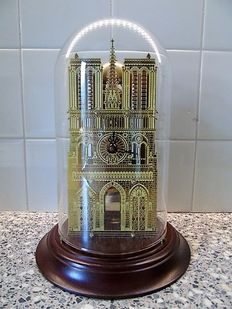 Notre Dame skeleton clock – Under glass cover – Hermle – Year 1990