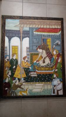 Painting on silk – India – 2nd quarter 20th century
