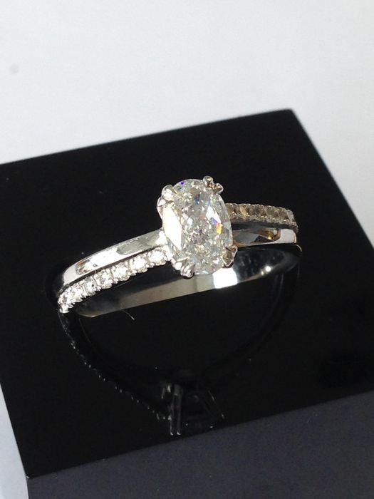 18 carats Or - Bague Diamant - Diamant