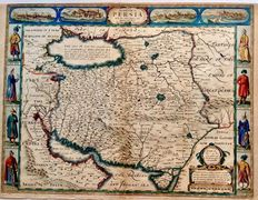 Persia; John Speed - The Kingdome of Persia with the cheef Citties and Habites described - 1626