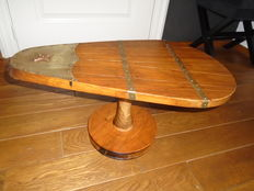 Unique handmade table of a leeboard