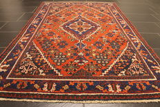 Beautiful antique Persian rug, Mey Mey, made in Iran, 125 x 200 cm, around 1950, natural colours