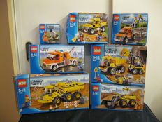 City - 7 sets amongst others 7631 + 4201 - Dump Truck + Loader and Tipper