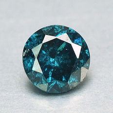 0.15 cts.  brilliant cut diamond Sparkling Titanic Blue P1