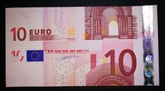 European Union - Germany - 10 euro 2002 Duisenberg - intentional wrong cut