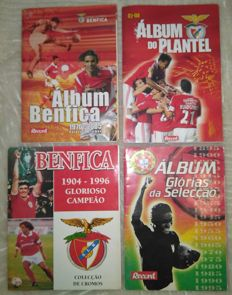 Variante Panini - Benfica 2007/08, 1970/2005,  1904/1996 Glorioso campeão + Glories of the Portuguese national team - 4 complete albums.