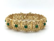 Ladies' bracelet in 19.2 kt gold