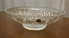 Lead-cut crystal centrepiece, geometric style - mid 20th century Florence