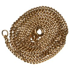 14 kt yellow gold curb link necklace - length: 50 cm