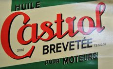 Castrol motor oil – Sturdy paper with a metal strip above and below - approx. 1935