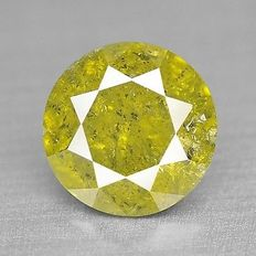 0.25 cts.  brilliant cut diamond Sparkling Yellow  P3
