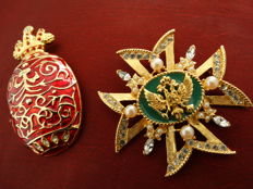 Nicholas & Alexandra Volunteer Pendant and Faberge Volunteer Pendant