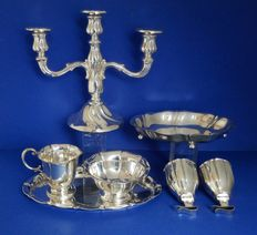 Lot wiht silver plated objects