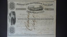 Lot of 2 American Railway stocks from 1848 and 1922