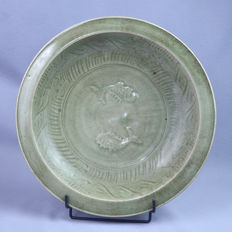 Very large celadon charger - China - 19th century