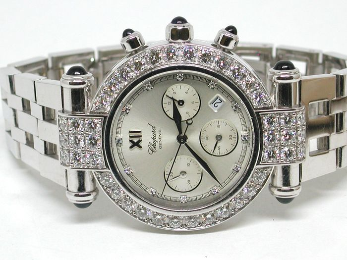 Chopard Imperiale - 18 carat white gold - ladies watch - 37mm - set with diamonds 4,68ct.