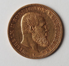 Germany, Württemberg – 10 Mark 1900 F gold – Wilhelm II