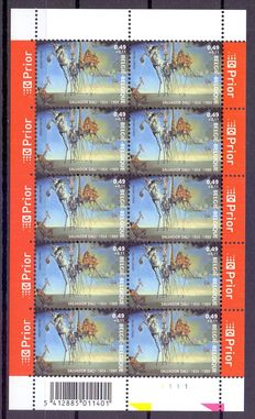 Belgium – Batch with 14 different small sheets of 10.