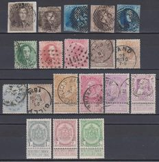 Belgium 1849-1905 - Selection of stamps