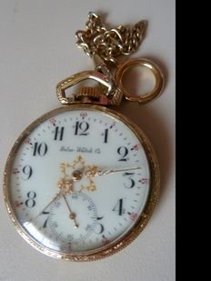 Pocket watch around 1930 - 50 with chain