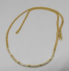 Choker in 18 kt yellow gold with cubic zirconia