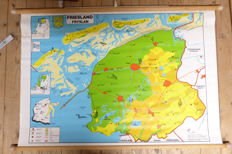 Beautiful series of school posters Dutch provinces (12 pieces)