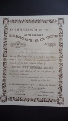 4 Swedish securities 1902 / 1917