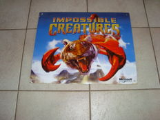 Enamel sign - Impossible Creatures - Microsoft Game Studios 1990 / 2000