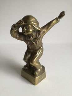Car mascot Attention - M. Bertin - approx. 1940 - 13,5 cm
