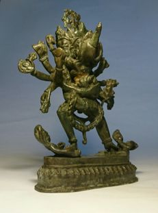 Bronze Tantric Samvara and Consort Vajravārāhī  - Nepal - second half 20th century