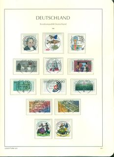 Germany Federal Republic 1981-2001 Complete collection on 2 Leuchturm albums