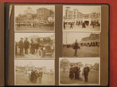 Booklet with 117 real photos South Holland 1920s, including Rotterdam & Scheveningen