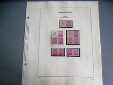 Complete collection of Belgium booklets from 1969/2007 on Davo album pages