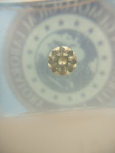 0.35 ct Round cut diamond I VVS2