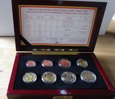 Belgium - coin set 2006 (8 coins) PP in a wooden box