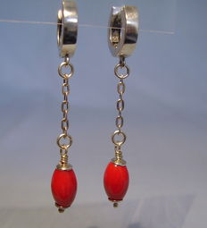 Coral earrings with genuine Sardinian corals