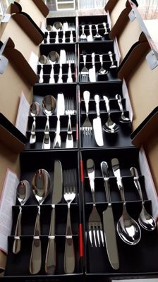 Ettore Sottsass for Alessi Nuovo - cutlery set, 32 - piece, 8 sets