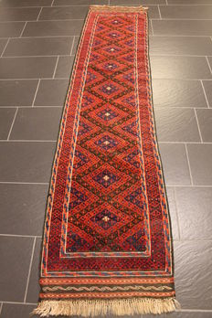 Beautiful antique hand-woven Oriental rug, Beluch Old Rug, 60 x 260 cm, circa 1930