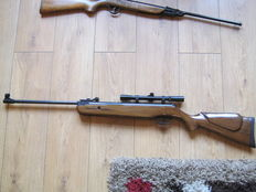SMK 19 5.5 cal .22 air rifle 1990's with telescopic sights & open sights