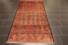 Beautiful Afghan Art Deco Oriental carpet wool on wool circa 1930 made in Afghanistan 115 x 238cm