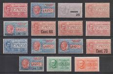 Kingdom of Italy, 1903-1932 – Complete series of express stamps
