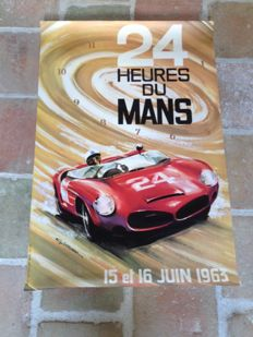 Original poster of the 24 hours of Le Mans 1963